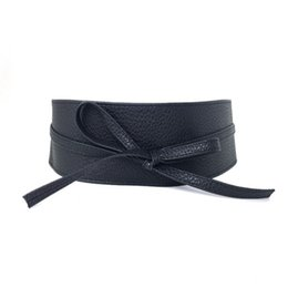 Wholesale Fashion Women Wide PU Material Bowknot Lovely Belt Colorful Comfort Elastic Elegant Belts For Dress Decoration sd f
