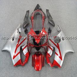 $enCountryForm.capitalKeyWord Australia - 5Gifts+Custom Injection mold red silevr motorcycle hull for HONDA CBR 600F4i 2004 2005 2006 2007 CBR600 F4i 04-07 ABS Fairings body kit