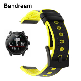 $enCountryForm.capitalKeyWord Canada - Genuine Leather + Silicone Rubber Watchband for Xiaomi Huami Amazfit Stratos 2   2S Quick Release Band Watch Strap Wrist Belt
