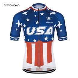2018 Flag USA international new pro team cycling jersey wear American sport  dirt mountain short sleeve bike bicycle jersey f48135415