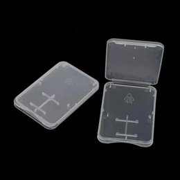 Transparent Cards Australia - 1000pcs 2 in 1 Standard SD SDHC Memory Card Case Holder Micro SD TF Card Storage Transparent Plastic Box