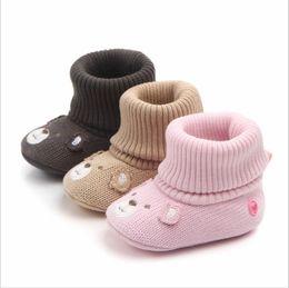 $enCountryForm.capitalKeyWord Australia - Newborn Baby Boy Girls Infant Cotton Crochet Cartoon Anti-Slip Boots Kids Infantil Warm Winter Shoes Mocassins Prewalker Booties