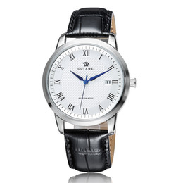 $enCountryForm.capitalKeyWord NZ - Wholesale-OUYAWEI Men Automatic Watch Reliable 316L Stainless Steel Case Leather Strap Auto Date Mechanical Male Waterproof Wristwatch
