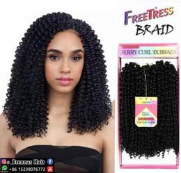 Black Hair Braids Hairstyles Australia - Wholesale Synthetic 3pcs 3x Savana jerry curly deep wave crochet braiding hair bundles for black women hot sale in USA hairstyles blonde SA