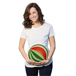 724c8668 Watermelon Print funny maternity pregnant T shirts Women Cotton Cute  Pregnancy Maternity Clothes Summer T Shirt Women Plus Size