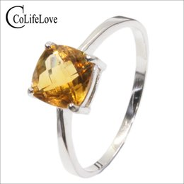 $enCountryForm.capitalKeyWord Canada - Hot sale luxury silver ring high quality 100% natural citrine ring real 925 Solid Sterling Silver jewelry for lady wedding ring Y1892704