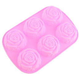 Chinese  Creative Convenient Silicone DIY Mold with 6 Modules and Rose Type for Making Ice Cube Candy Chocolate Cake Cookie manufacturers