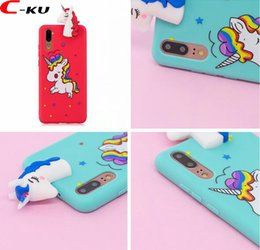 b9d81ded84a 3D Unicorn Horse Cartoon Soft TPU Case For Huawei P20 P20 Lite P20 Pro  Fashion Panda Bear Animal Cell Phone Gel Back Skin Cover 10pcs
