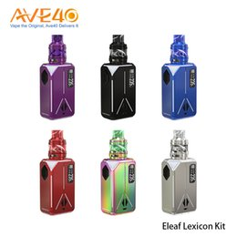 Show kitS online shopping - 100 Original Eleaf Lexicon w TC Kit with Ello Duro PMMA Atomizer ml Powered By dual Battery Light Show Design