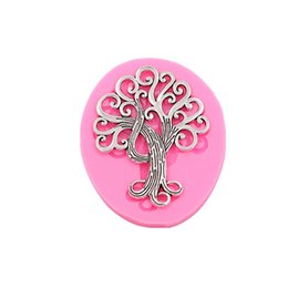 processing tool UK - Plant trees turn sugar cake soft silicone mold cake dessert decoration mold chocolate baking process DIY baking small tools