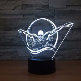 $enCountryForm.capitalKeyWord Australia - Swimming 3D Optical Illusion Lamp Night Light DC 5V USB Powered AA Battery Wholesale Dropshipping