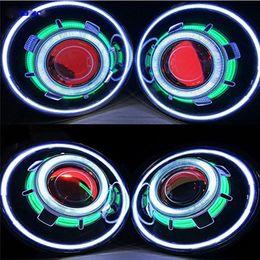 Großhandel Paar 7 Zoll Projektor Scheinwerfer LED Demon Eye Scheinwerfer für Jeep Wrangler Jk CJ (Mehr Farbe wählen)