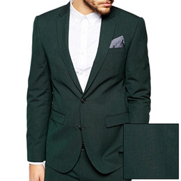 $enCountryForm.capitalKeyWord NZ - HCF by Air Men's 1 Piece 2 Button Flat Collar Skinny Charm Classic Clothing With New Stylish Men Suits Jacket Dark Green