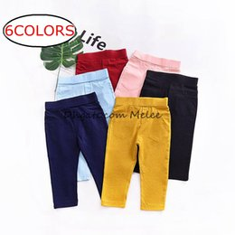 Cotton Pp Pants Canada - ins kids spring color pp pants baby cotton pants Trousers solid color tights shorts 6color choose free ship