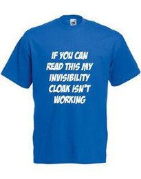 Blue Cotton Cloak Australia - Invisibility Cloak Isn't Working, Harry Potter inspired Men's Printed t-Shirt