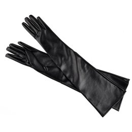 $enCountryForm.capitalKeyWord NZ - Artificial Leather Elbow Women Glove Black Red Color Thin Style Warm Fashion Gloves Simple Practical Hot Sale 10cz dd