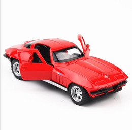 $enCountryForm.capitalKeyWord Australia - Fast & Furious Corvette C2 1:32 scale alloy pull back car model diecast metal toy vehicles sound&light 3 open doors multicolor