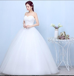 korean dresses pictures Canada - Real Photo Customized Wedding Dresses 2018 Korean simple Lace High Waist Maternity Bridal Gown Vestido De Noiva Pregnant Women