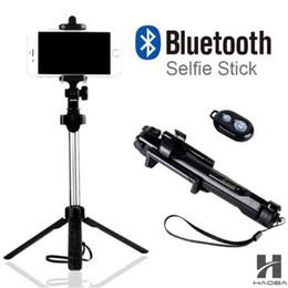 Vente en gros Bâton T1 2018 Selfie Selfie Bluetooth Bluetooth avec bouton Pau selfie bâton pour iPhone 6 7 8 plus Android bâton