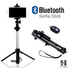 Venta al por mayor de T1 2018 Tripod Monopod Selfie Stick Bluetooth con botón Pau De Palo selfie stick para iphone 6 7 8 más Android stick