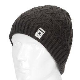 Discount snow wool beanies - Winter Warm New Fashion For Men Skullies Men Knit Beanie Reversible Baggy Snow Cap Warm Hat