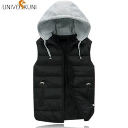 korean men down vest Canada - UNIVOS KUNI 2018 Casual Winter Men&Women Down Coat Fit Slim Solid Preppy Korean Version Cotton High Quality Lover Vest Q5198