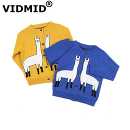 China VIDMID new spring baby girls Alpacas sweater kids clothing knitting cardigan cotton long sleeve children tops jackets 7050 08 supplier sweater jacket girl suppliers