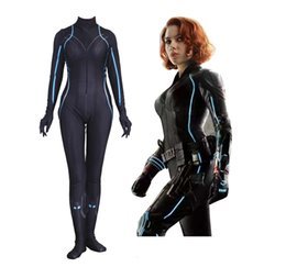 cfbd634a2d Sexy Black Spandex Costume UK - Halloween Women Adult Female Cosplay The  Avengers Black Widow Costume