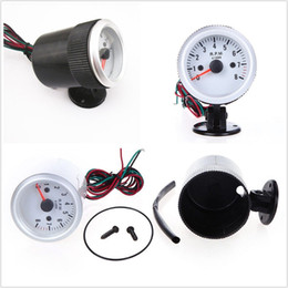 universal gauge holder NZ - Universal 2-52mm Car Auto Tachometer Tach Gauge With Holder Cup Blue LED Light