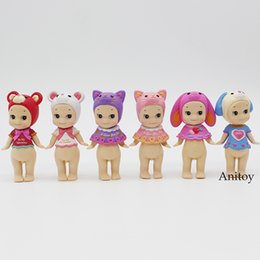 Angels Figures Australia - model toy 6 pcs set Sonny Angel Valentine's Day Easter Series Christmas Series PVC Figures Collectible Model Toys 7.5-10cm