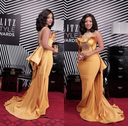 c3e2a2e0ed2 Celebrity inspired plus size dresses online shopping - Plus Size Sexy Gold  Mermaid Prom Dresses African