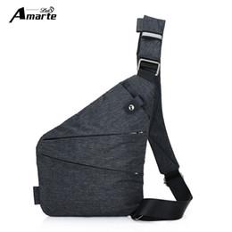 Single Shoulder Strap Packs Australia - Amarte Anti-theft Design Men Sling Bags Messenger Crossbody Chest Bag Pack Casual Bag Single Unisex Women Shoulder Strap Pack