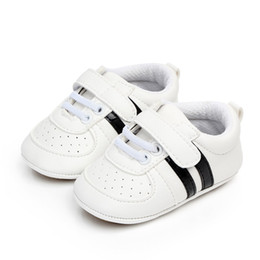 moccasin casual shoes baby Australia - Baby Shoes Boy Girl PU Sneaker White Shoes Newborn Infant First Walkers Casual Crib Moccasins