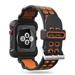 Cover For Smart Watch Australia - Smart Watch Silicone Band + Armor PC Frame cases defender Cover For iWatch Apple Watch Series4 Silicon Strap Sport Bracelet 40mm 44mm
