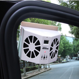 Car Solar Energy Ventilator Window Fans Air Vent Cool Exhaust Fan Auto Rechargeable Ventilation System car air purify clear tool on Sale