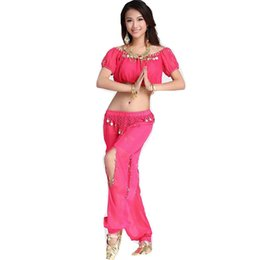 Chinese  2pieces Suit Belly Dance Costumes Oriental Dance Costumes Bollywood Belly Costume Set Top Bra + Pant manufacturers