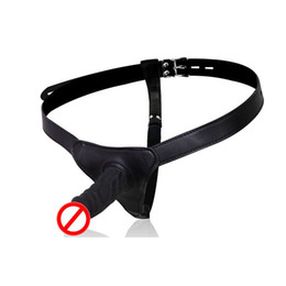 dildo harnesses NZ - New Design Leather Harness T-Back Thong Strap On With Dildo Penis Sexy Costume For Lesbian Couples BDSM Sexual Play Sex Toys Adult Novelty