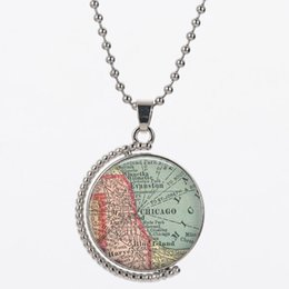 $enCountryForm.capitalKeyWord Australia - CHB5 for NLNL Hand-painted navigational map 25mm size women 925 silver 45cm chain send with bag hot sell neckacle