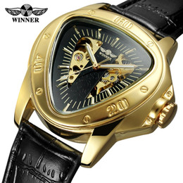 $enCountryForm.capitalKeyWord UK - WINNER Automatic Mechanical Men Watch Racing Sports Design Triangle Skeleton Wristwatch Top Brand Luxury Golden Black + Gift Box