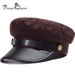 Discount flat pumps for women - Pump Queen New Fashion Winter Hats Women Warm Flat Berets Leather Boina Feminina Painter Bonnet For Female Outdoor Sport