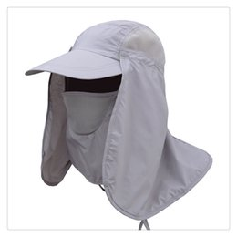 233d60b2c5bcb Men and Women Outdoor Sun Protection Fishing Hat with Removable Face Neck  Cover Flap