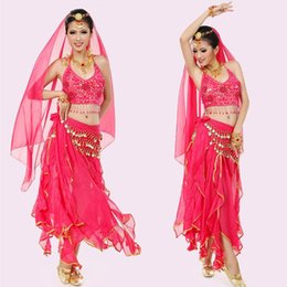 Discount sexy indian woman costumes - sexy ROSE belly dance costumes for women belly dancer clothes indian dancer costumes indian suit performance clothing