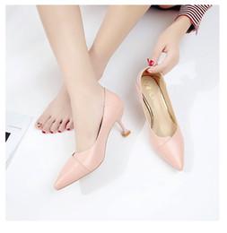 Clásicos Zapatos de oficina poco profundos para mujer Nueva llegada Conciso Sólido en punta del dedo del pie Mujeres Bombas Moda Tacones altos Zapatos de barco Zapatos de boda en venta