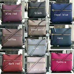 Ingrosso Borse a tracolla firmate 10 colori borsa a tracolla borsa a tracolla Cross Body doppie cerniere borse da donna
