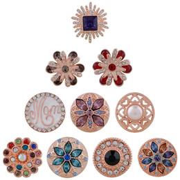 $enCountryForm.capitalKeyWord NZ - 2018 Partnerbeads High Quality Rose Gold 18mm Snap Button Metal crystal Cross fit Women Charm Snaps Jewelry Bracelets&bangles