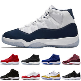 b9cfa48e760 Cheap 11 Olympic Metallic Gold White Varsity Red Navy Gum Concord  Basketball Shoes Velvet Heiress Sneakers Men 11s Lows XI Wool Sports Shoes