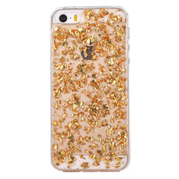 $enCountryForm.capitalKeyWord UK - Gold Foil Glitter Bling Case Gold Silver Foil Clear Soft TPU Transparent Back Cover for Iphone X XS MAX XR 8 7 6 6S Plus Cell Phone Cases