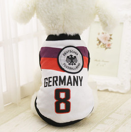 Wholesale sports female t shirt for sale – custom Dog Sport Clothes Pets Soccer Football Jersey Style Soft Breathable Vest Basketball Tshirt for Spring Summer All Puppy Cats