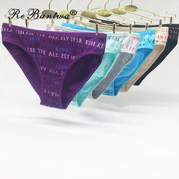 Ropa interior de mujer Algodón Bragas sexy Púrpura Calzoncillos Cartas  Impresas Lindas Damas Bragas Nueva ropa interior para mujeres Negro Calcinha ce4c69978d6e