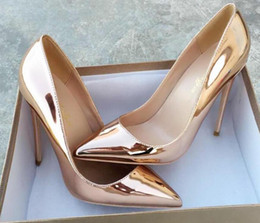 $enCountryForm.capitalKeyWord NZ - Super 12cm 10cm 8cm Thin Red Bottom High Heels Golden, silver Pointed Toe Women Pumps pu + Sheepskin Shallow Toe Woman Party Shoes